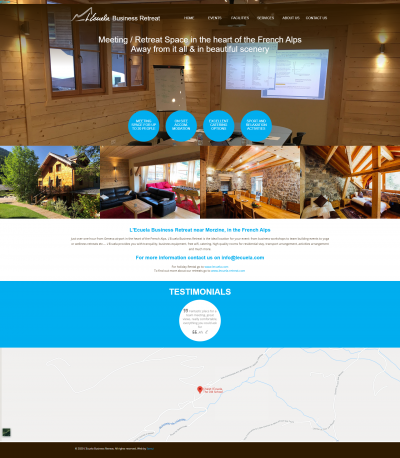 Chalet l'Ecuela: Business Retreat website